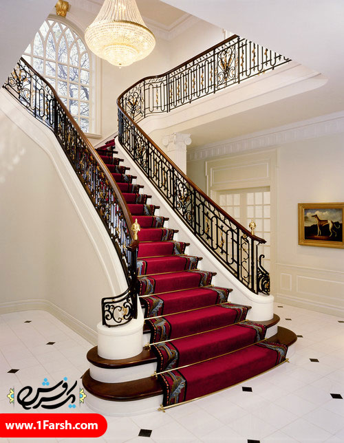 red traditional staircase